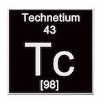 Periodic Table Technetium Tile Coaster
