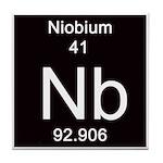 Periodic Table Niobium Tile Coaster