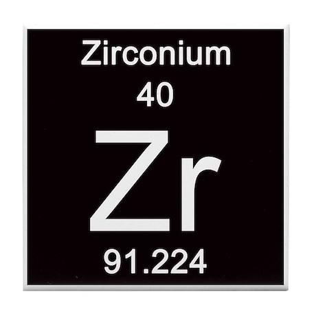 Periodic table zirconium tile coaster by sciencelady urtaz Gallery