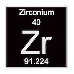 Periodic Table Zirconium Tile Coaster