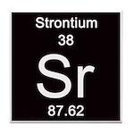 Periodic Table Strontium Tile Coaster