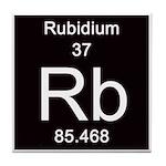 Periodic Table Rubidium Tile Coaster