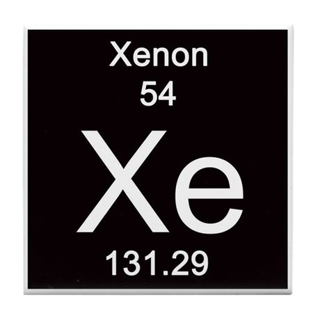 Periodic table xenon tile coaster by sciencelady urtaz Image collections