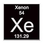Periodic Table Xenon Tile Coaster
