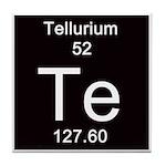 Periodic Table Tellurium Tile Coaster