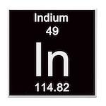 Periodic Table Indium Tile Coaster