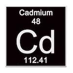Periodic Table Cadmium Tile Coaster