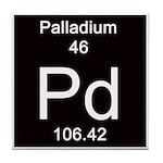 Periodic Table Palladium Tile Coaster