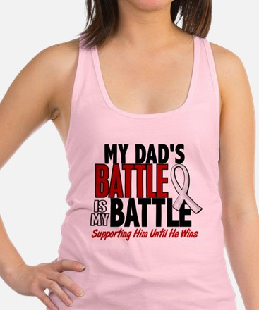 My Battle Too 1 PEARL WHITE (Dad) Tank Top