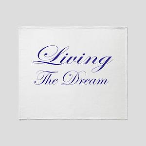 Living the Dream Purple Throw Blanket