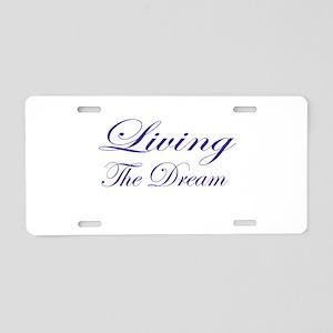Living the Dream Purple Aluminum License Plate