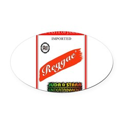 REGGAE STRIPE Oval Car Magnet