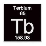 Periodic Table Terbium Tile Coaster