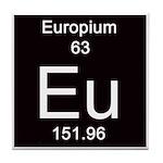 Periodic Table Europium Tile Coaster