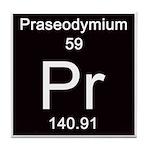 Periodic Table Praseodymium Tile Coaster