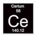 Periodic Table Cerium Tile Coaster