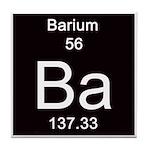 Periodic Table Barium Tile Coaster