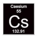 Periodic Table Caesum Tile Coaster
