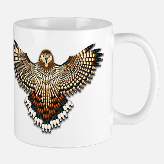 Beadwork Red-Tailed Hawk Mug