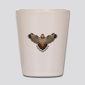 Beadwork Red-Tailed Hawk Shot Glass