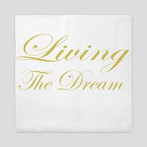 Living the Dream Gold Queen Duvet
