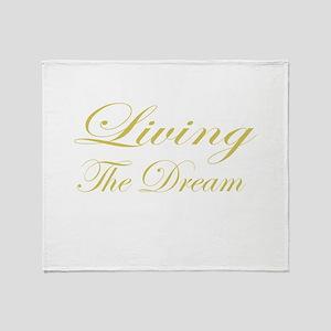 Living the Dream Gold Throw Blanket