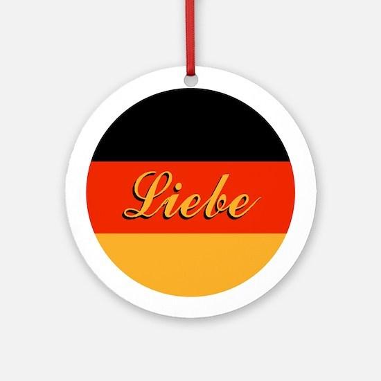 "German Flag ""Love"" Ornaments"