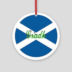 """Scottish Flag """"Love"""" Ornament"""