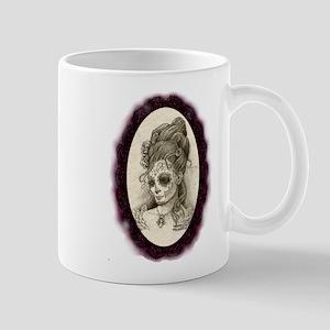 Maroon Dia de los Muertos Mug