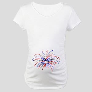 Fireworks Maternity T-Shirt