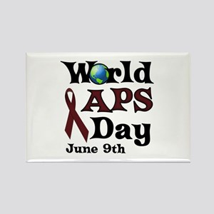 June 9th is World APS Day Rectangle Magnet