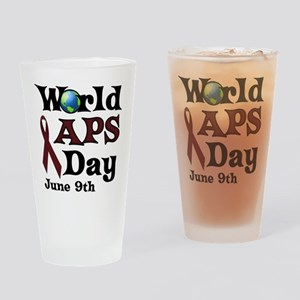 June 9th is World APS Day Drinking Glass