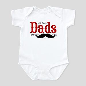 Best Dads Have Mustaches Infant Bodysuit