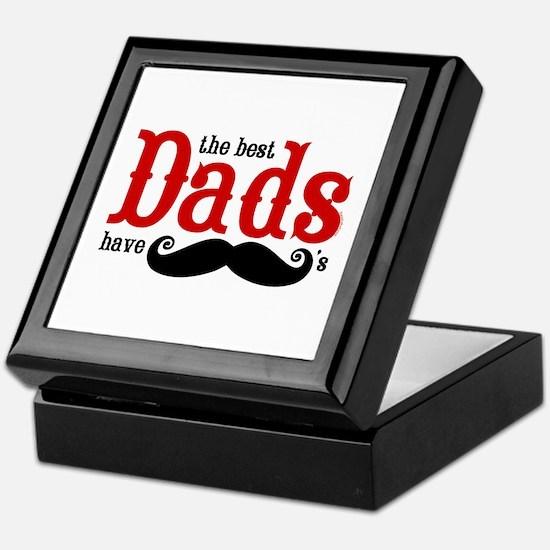 Best Dads Have Mustaches Keepsake Box
