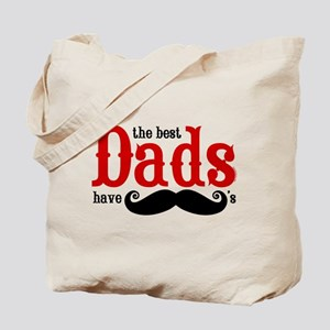 Best Dads Have Mustaches Tote Bag