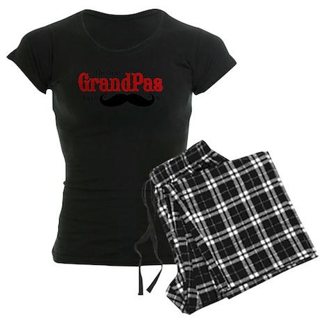 Best Grandpas Have Mustaches Women's Dark Pajamas