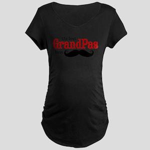 Best Grandpas Have Mustaches Maternity Dark T-Shir