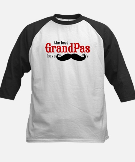 Best Grandpas Have Mustaches Kids Baseball Jersey