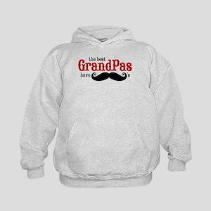 Best Grandpas Have Mustaches Kids Hoodie