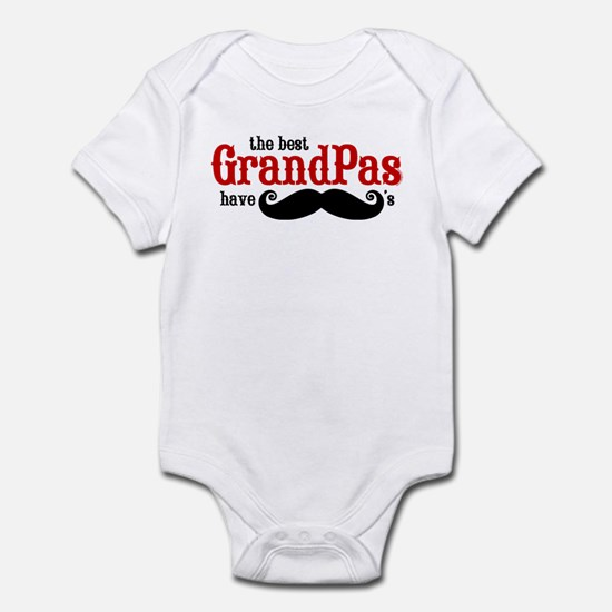 Best Grandpas Have Mustaches Infant Bodysuit