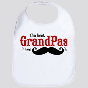 Best Grandpas Have Mustaches Bib