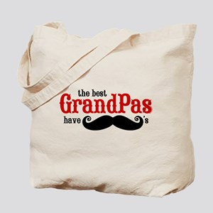 Best Grandpas Have Mustaches Tote Bag