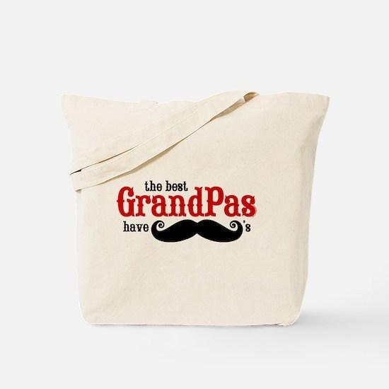Best Grandpas Have Mustaches Tote Bag