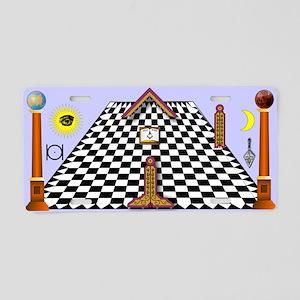 Masonic Lodge Aluminum License Plate