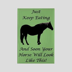 Diet Encouragement Horse Magnet Rectangle Magnet
