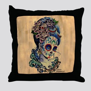 Marie de los Muertos Throw Pillow