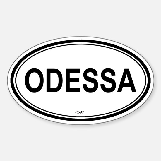 Odessa (Texas) Oval Decal