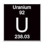 Periodic Table Uranium Tile Coaster