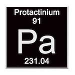 Periodic Table Protactinium Tile Coaster