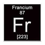 Periodic Table Francium Tile Coaster